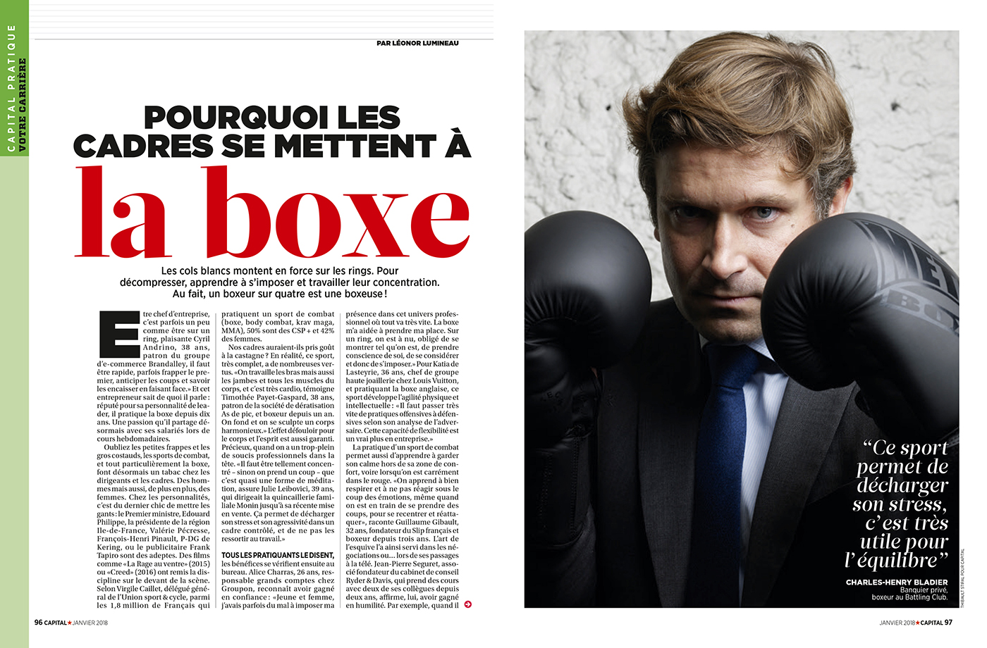 Thibault Stipal - Photographe - Capital magazine - Boxe  - 1
